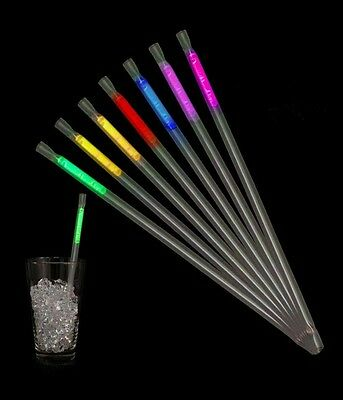 25 Pailles Fluo Lumineuses ASSORTIES