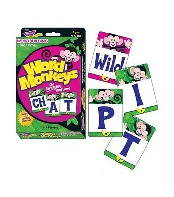 Word Monkeys Word Building Card Game Speech Therapy Special Needs ESL Autism