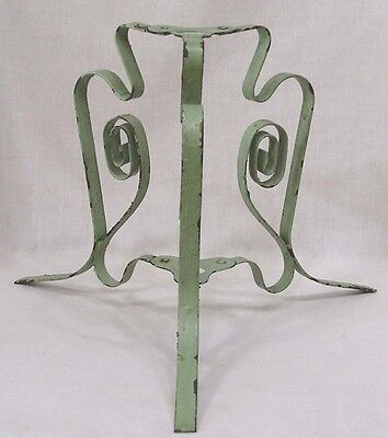 Folding Metal Plant Stand Garden Architecture Old Green Paint 1930s-40s