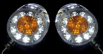2x Unique LED Chrome W/Y Lamps 24V Side marker for Truck LKW Lorry Iveco Scania