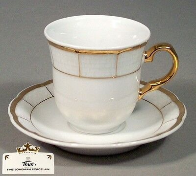Thun Porcelain Demitasse Espresso Fine China Mocha Mocca Cup & Saucer Set of 6