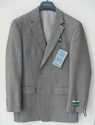 Ralph Lauren Sport Coat Blazer Brown Tan Houndstooth Wool 38 REGULAR Lined NWTS