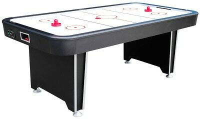 7ft Twister Air Hockey Table - Free Play Home Table Matt Black - NEW