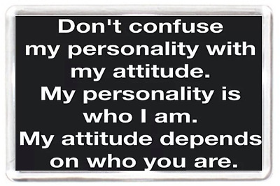 Fridge Magnet Confuse Personality True Real Attitude Reflect Quote Saying Gift