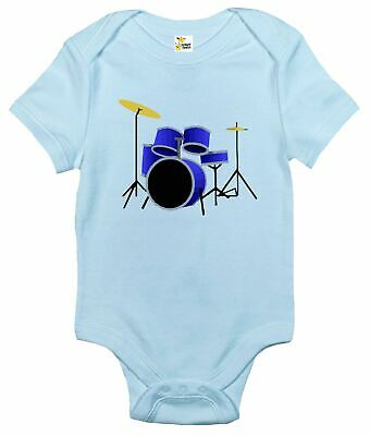 Baby Bodysuit - Drum Kit Cute Drummer Baby Clothes for Infant Boys and Girls
