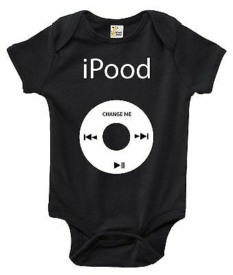iPood Funny One-piece Baby Bodysuit Cute Baby Clothes for Boys and Girls