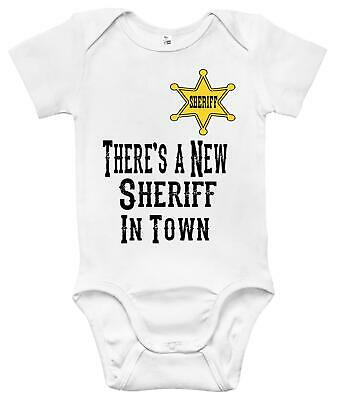 Newborn Infant Kids Baby Boy Girl Romper Bodysuit Jumpsuit Clothes New Sheriff