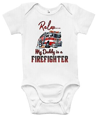 Newborn Infant Kids Baby Boy Girl Romper Bodysuit Jumpsuit Clothes Firefighter