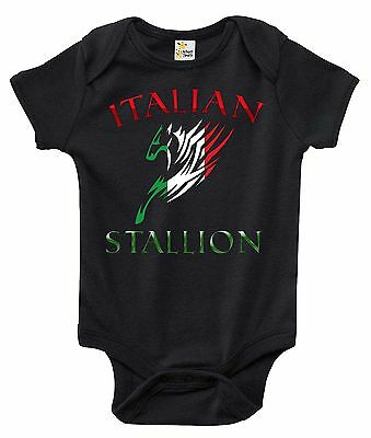 Italian Stallion One-piece Baby Bodysuit Cute Baby Clothes for Boys and Girls