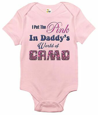 Newborn Infant Kids Baby Boy Girl Romper Bodysuit Jumpsuit Clothes Daddy Hunting