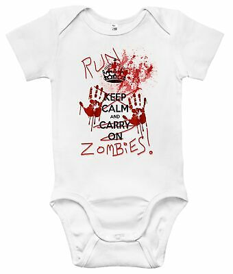 Run Zombies One-piece Baby Bodysuit Cute Baby Clothes for Boys and Girls
