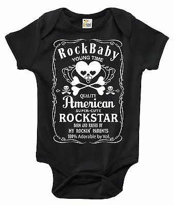 Newborn Infant Kids Baby Boy Girl Romper Bodysuit Jumpsuit Clothes Rock n Roll