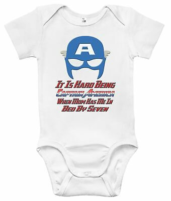 Baby Bodysuit - It Is Hard Being Captain America Baby Clothes for Infants