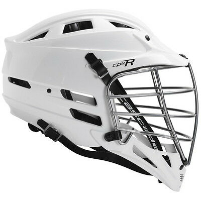 NEW Cascade CPXR Lacrosse Helmet - White with chrome mask