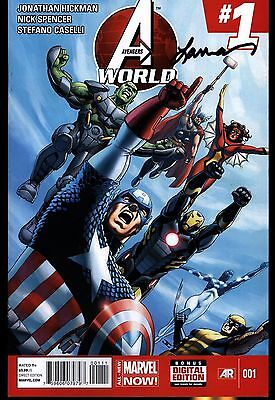 Avengers World #1 First Print Signed By Laura Martin Marvel Comics NM+