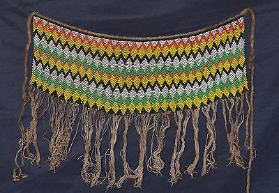 Large Old Kirdi Glass Beaded Panel Apron Cache Sexe Cameroon
