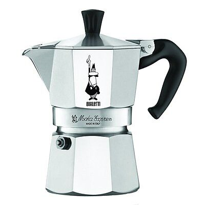 The Original Bialetti Moka Express Made in Italy 3-Cup Stovetop Espresso Maker w