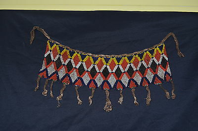 Old Kirdi Glass Beaded Panel Apron Cache Sexe Cameroon