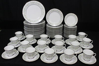 Vtg 91 Pc Noritake Fine China SAVANNAH Floral #2031, 5 Pc Service for 20, Japan