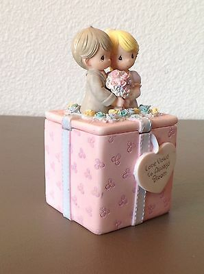Precious Moments By Enesco 1999 Love Vows To Always Bloom Trinket Box Collector