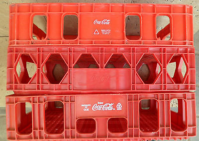 Vintage Red Plastic Coke Coca-Cola Stacking Bottle Crate Case Carrier