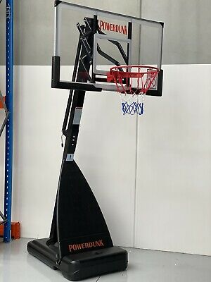 Powerdunk Pro Portable Adjustable Basketball Stand System extra strong Ring
