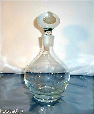 Vintage 1.4l Glass Decanter with solid glass bubble lid