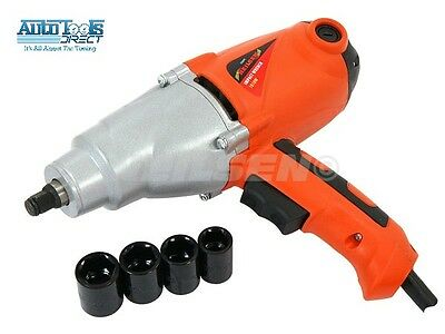 """Heavy Duty 1010W Electric 230V 1/2"""" Dr Impact Wrench In Case & Sockets 17-22Mm"""
