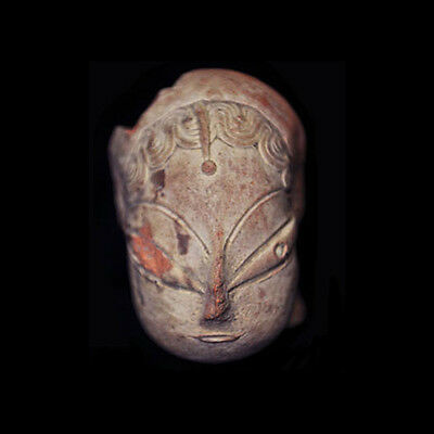 Mehrgarh clay head of goddess, 4th Millennium B.C. Indus Valley - x6142
