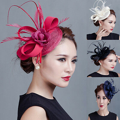 Spring Racing Party Melbourne Cup Feather Fascinator Headband Hairband Clip