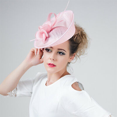 Lot Large Headband Clip Hat Fascinator Wedding Lady Race Royal Ascot Women Decor