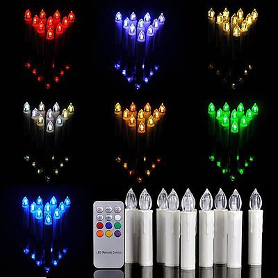 10 Led Tea Light Candle Tealight Flameless Flickering Battery Wedding Party Home