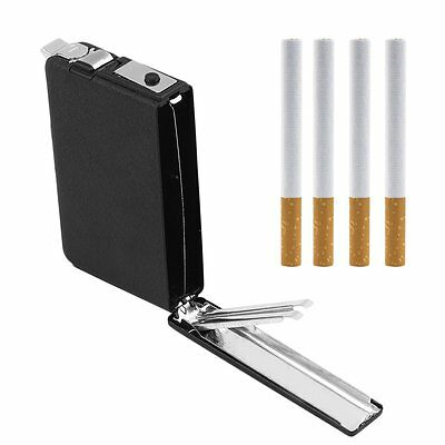 Cigarette Case & Automatic Ejection Butane Windproof Metal Box Holder F7