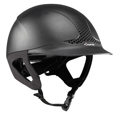 Adults horse riding helmet hat Black Ventilated english and western adjust