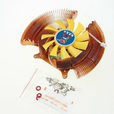 12V 2pin Mounting Hole 43mm 55mm 80mm VGA Video Card Cooling Cooler Heatsink Fan