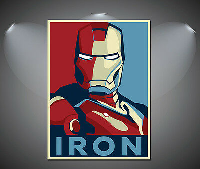 Iron Man Vintage Art Deco Comic Poster - A1, A2, A3, A4 sizes