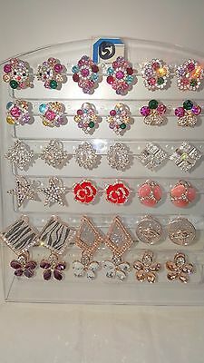 Joblot of 18Pairs Mixed Design Sparkly Diamante stud Earrings-NEW Wholesale lot5