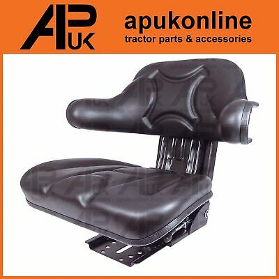 New Quality Universal Suspension Seat Tractor Dumper Forklift Mower Digger Black