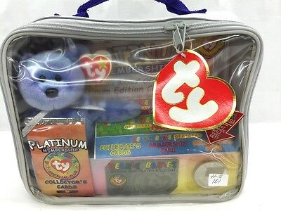 Original Beanie Babies Official Club Platinum Edition Kit New