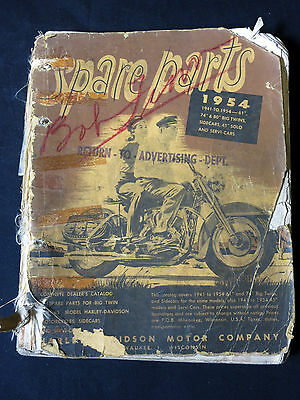 Harley-Davidson 1954 Spare Parts Book