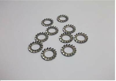 24 x Stainless steel shakeproof washers serrated external teeth