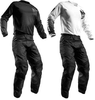 2017 Thor Pulse Blackout Whiteout Pant & Jersey Riding Gear Combo Mx Atv Offroad