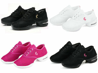 Women's Lace Up Hip Hop Jazz Dance Sneakers Dancewear Sport Shoes 4 Colors