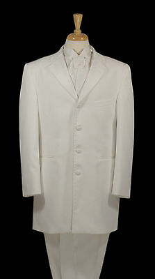 "Men's - After Six ""Zenith"" White Frock Tuxedo Coat - All Sizes"