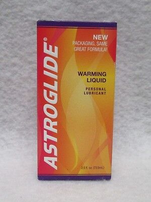 Astroglide Warming Water Based Lubricant 2.5oz Hot Sexy Personal Lube Latex Safe