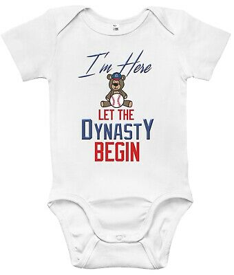 Newborn Infant Kids Baby Boy Girl Romper Bodysuit Jumpsuit Clothes Chicago Cubs
