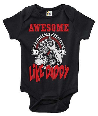 Newborn Infant Kids Baby Boy Girl Romper Bodysuit Jumpsuit Clothes Awesome Dad