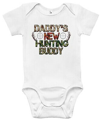 Daddy's New Hunting Buddy One-piece Baby Bodysuit Cute Baby Clothes