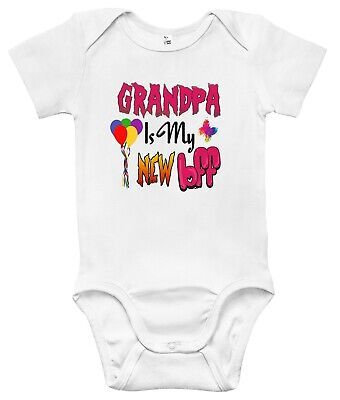 Newborn Infant Kids Baby Boy Girl Romper Bodysuit Jumpsuit Clothes Grandpa BFF