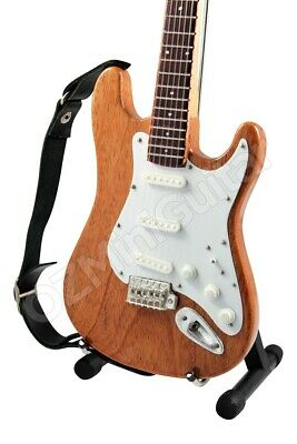 Miniature Guitar Stratocaster Rosewood & Strap